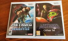 Metroid Prime 3: Corruption And Metroid Other M Wii Nintendo Games Case & Manual