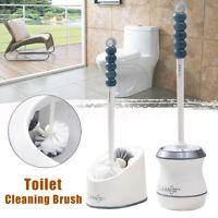 Toilet Brush and Holder Bowl Cleaning Brush with Under Rim Lip Brush and Holder