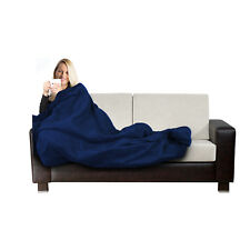 Electric Blanket Heated Throw Navy Over Under Soft Mattress Fleece Bed Washable