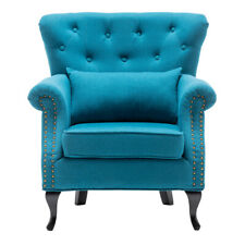 American-Style Accent Armchair Wing High Back Leisure Lounge Chairs with Cushion