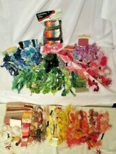 New ListingLarge Vtg Lot -Cross Stitch Floss Thread Embroidery Skein,Loose, Multi-color
