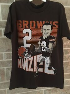 Cleveland Browns NFL #2 Manziel (Brown) Shirt Mens Size S New