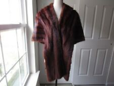 Size M Sedran Brown Mink Vintage 1950s Fur Shawl Womens Authentic
