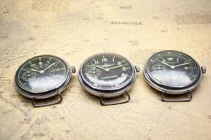 Collection Of 3 German Watch Pilot Luftwaffe observer B-uhr Military Ww2 Type