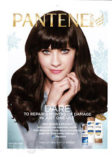 Zooey Deschanel 1-pg clipping March 2013 ad for Pantene