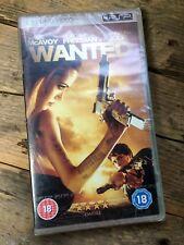 Wanted (UMD, 2008) PSP Film/Movie - Angelina Jolie, James McAvoy - VGC