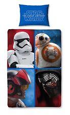 Star Wars Set Letto Singolo Lenzuola COPRIPIUMINO 140x200cm policotone