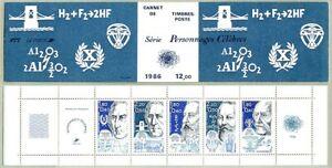 PERSONNAGES CÉLÈBRES - CARNET de 5 TIMBRES NEUFS - année 1986 - PARFAIT ETAT -C1