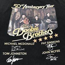The Doobie Brothers 50th Anniversary Tour T-shirt Men's 3XL XXXL Black graphic