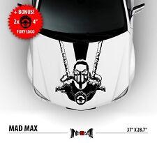 MAD MAX on Hood Race Stripes Skull Chain Car Vinyl Sticker Decal fanart replica