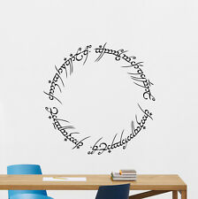 Lord Of The Rings Wall Decal Ring Of Power Poster Vinyl Sticker Home Decor 76quo