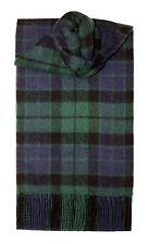 Lochcarron de Escocia 100% Lambswool Mackay Moderno Tartan Bufanda Nuevo