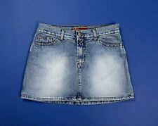 Only mini gonna jeans donna usato blu M denim skirt moda vintage minigonna T4857