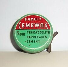 Ancienne boite Enduit Cemewax - Droguerie - Echantillon gratuit - Tôle litho  BE