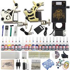 Complete Starter Tattoo Kit 2 Machine Gun Power Supply 20 Ink Needle Set DJ24