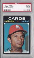 1971 Topps baseball card #720 Matty Alou, St. Louis Cardinals graded PSA 7