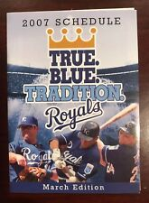 2007 Kansas City Royals Pocket Schedule - March Edition