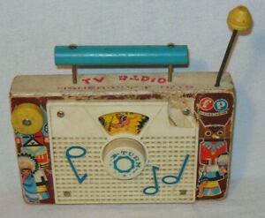 Vintage Fisher Price 10 Little Indians TV Radio wideup Swiss Music Box 1961 #159