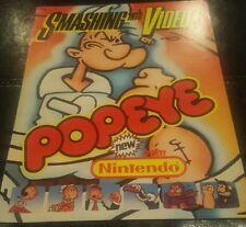 Nintendo POPEYE Original 1982 Classic Video Arcade Game Promo Sales Flyer Rare N