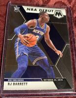 RJ Barrett 2019-20 Mosaic NBA Debut Rookie Card RC # 270, New York Knicks