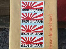 X4 RISING SUN MADE IN JAPAN JDM Decal Sticker 80mm x 37mm