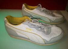 Puma commander size 9.5 womens shoes white yellow decent shape