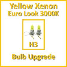 Warm White 3000K Yellow Xenon Headlight Bulbs Main Dip Beam or Fog H3 55W (x2)