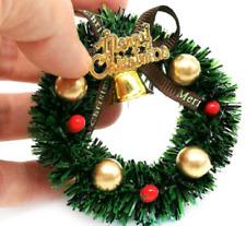 Dolls House Miniature Christmas Accessory Decorated Snowy Christmas Wreath items