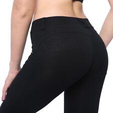 Damen Stretch Hose Jeans-Look Slim Skinny Push up Leggings Leggins Jeggings MES
