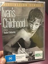 Ivan's Childhood ex-rental DVD (1962 Andrei Tarkovsky Russian war movie) RARE