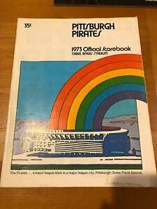 1973 Pittsburgh Pirates Three River Stadium Clemente baseball program scorecard