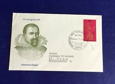 Germany Weilderstadt 1971 Cover - Johann Kepler 400th Birth Anniversary