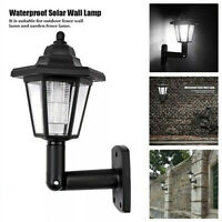 2X Solar Power LED Light Path Way Wall Landscape Mount Garden Fence Lamp Outdoor