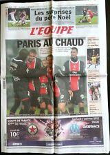 L'Equipe Journal 22/12/2011; PSg-Saint-Etienne/ Philippe Gilbert/ Handball Chamb