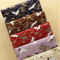 100% Cotton Cloud Crane Gilded Kimono Cloth Japanese Style Sakura Flower Fabric