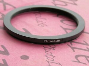 72mm to 62mm Stepping Step Down Filter Ring Adapter 72mm-62mm