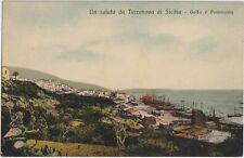 ITALIA 1910 TERRANOVA DI SICILIA CALTANISSETTA GOLFO E PANORAMA