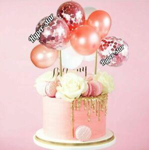 Confetti Balloon Cake Topper Arch Garland Birthday Wedding Decoration ROSE GOLD