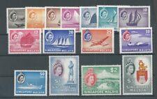 SINGAPORE 1955 Definitive Scott 28-42 SG 38-52 VF MINT NH PO FRESH