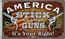 Stick to Your Guns 3X5' FLAG 2nd Amendment Gun Rights  2 Metal Grommets New