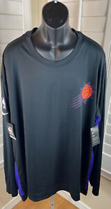 Nike Dri-Fit Engineered NBA Phoenix Los Suns Shooting Shirt AV1005-010 Men 4XLTT