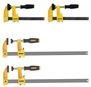 DEWALT Bar Clamps 600 lb. 2.5 in. Throat Depth 12 in. 6 in. Woodworking (4-Pack)