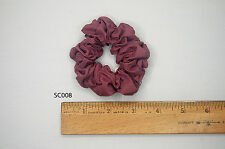 Silk Scrunchies Ponytail Holder Elastic Ties Hair Band Dusty Pink Old Rose SC008