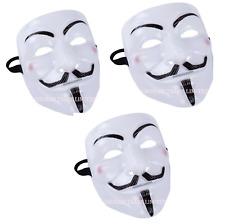 3X Vendetta Máscara Halloween de V cara Bonfire Night Guy Fawkes anónimo vestido de fantasía