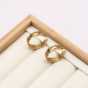 Women's Earrings 2F Texture Retro Round Hollow Simple Fashion Temperament Gift