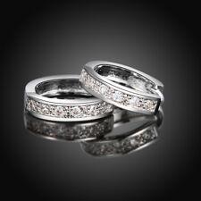 New Women Fashion Jewelry 925 Sterling Silver Very Very Small Stud Hoop Earrings