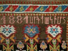 "GORGEOUS Inscribed & Dated 1881 Caucasian ARMENIAN Karabagh ""Flower Garden"" rug"
