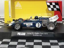 Policar Lotus 72 #3 Graham Hill Azul CAR02B 1:32 Ranura Nuevo Y En Caja
