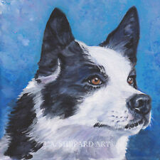"Karelian Bear Dog art portrait Print of Lashepard painting 12x12"" finnish"