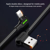 Heavy Duty Braided USB Charger Charging Lead Data Cable 1.8M 3M For iPhone X 7 6